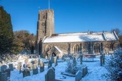 St George's Church, Georgeham, in Winter