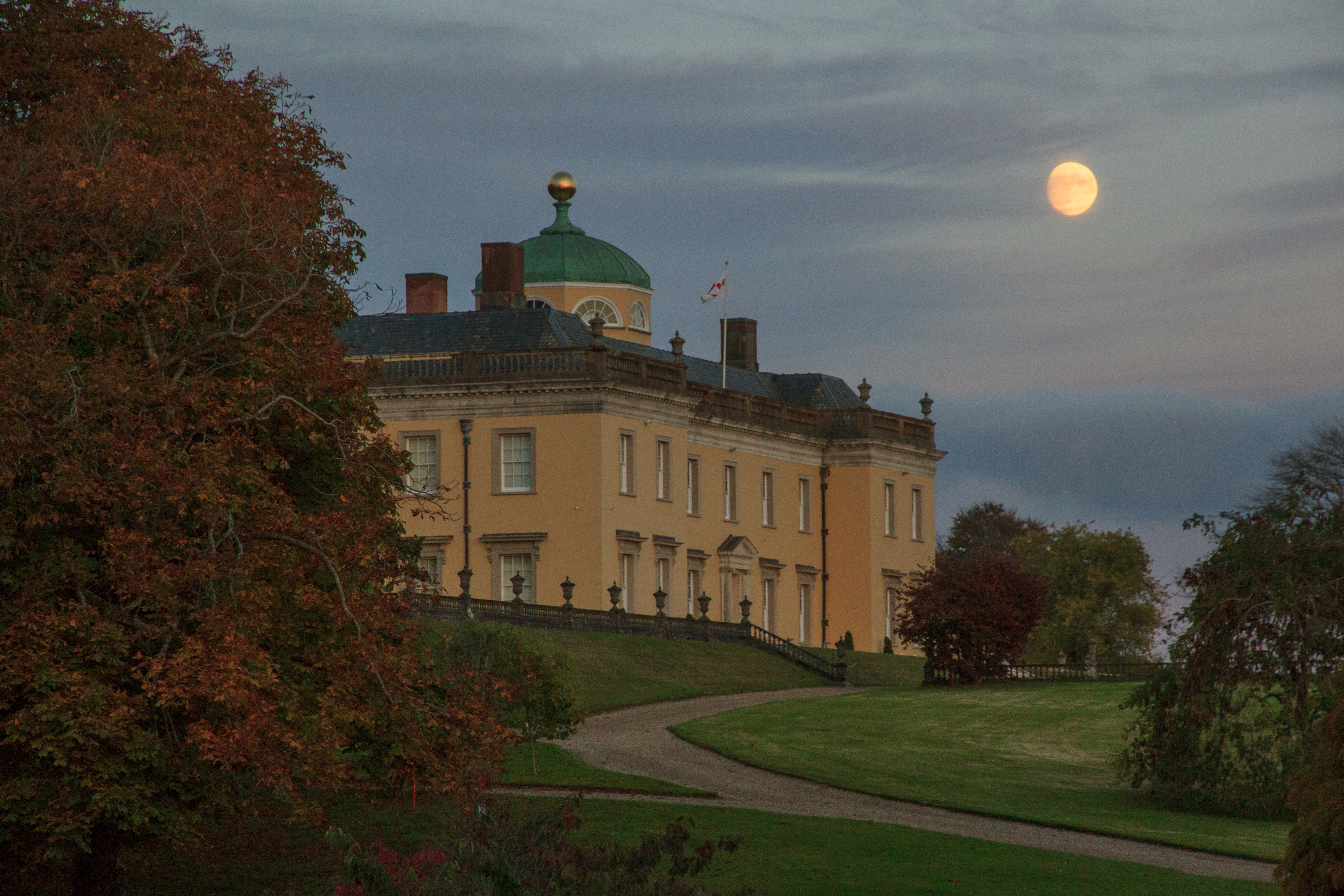 Castle Hill House By Moonlight near South Molton