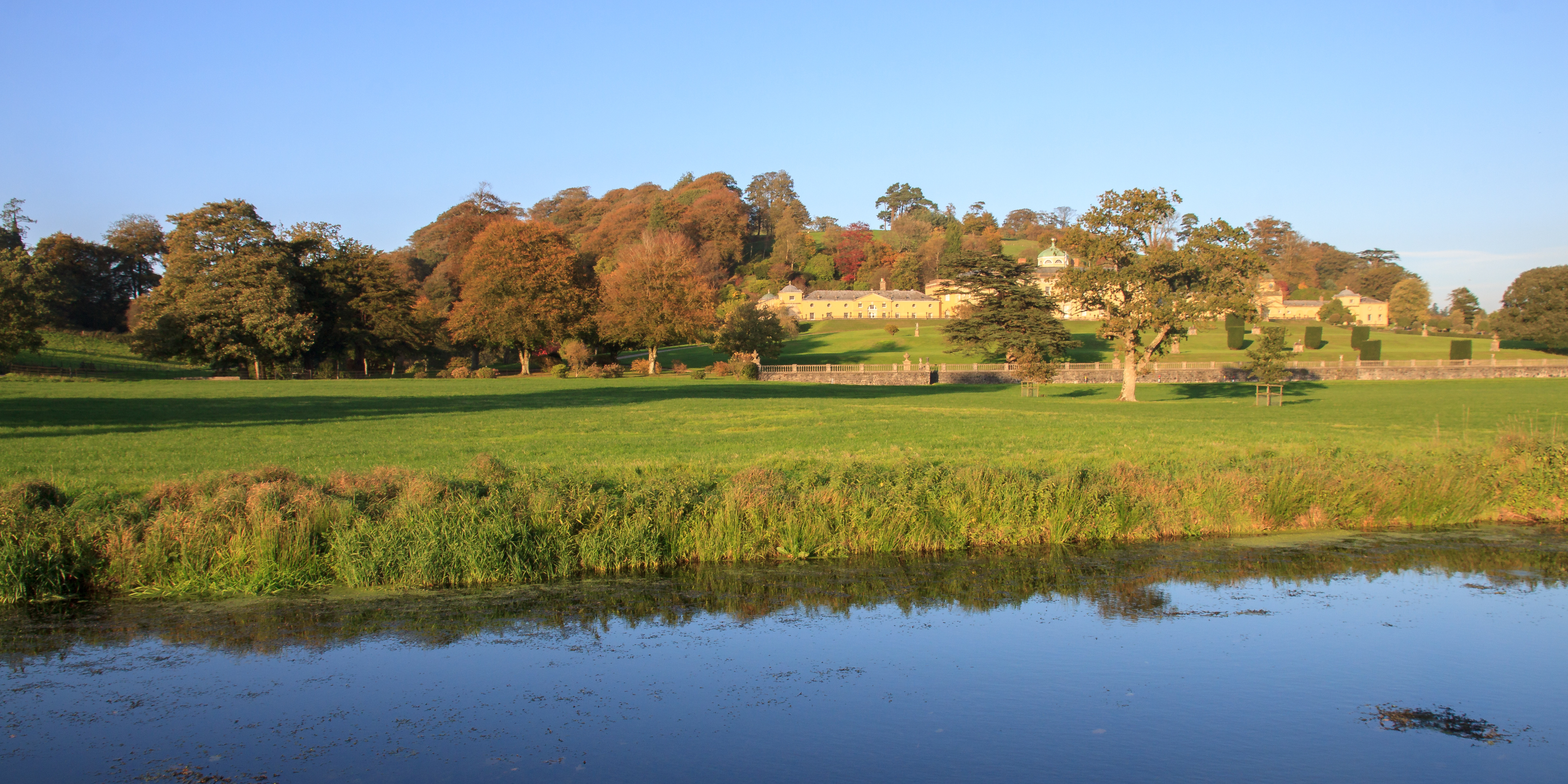 Castle Hill House and Gardens near South Molton in October
