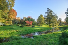 Castle Hill Gardens near South Molton in October