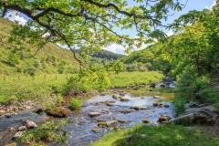 Badgworthy Water in the Doone Valley on Exmoor