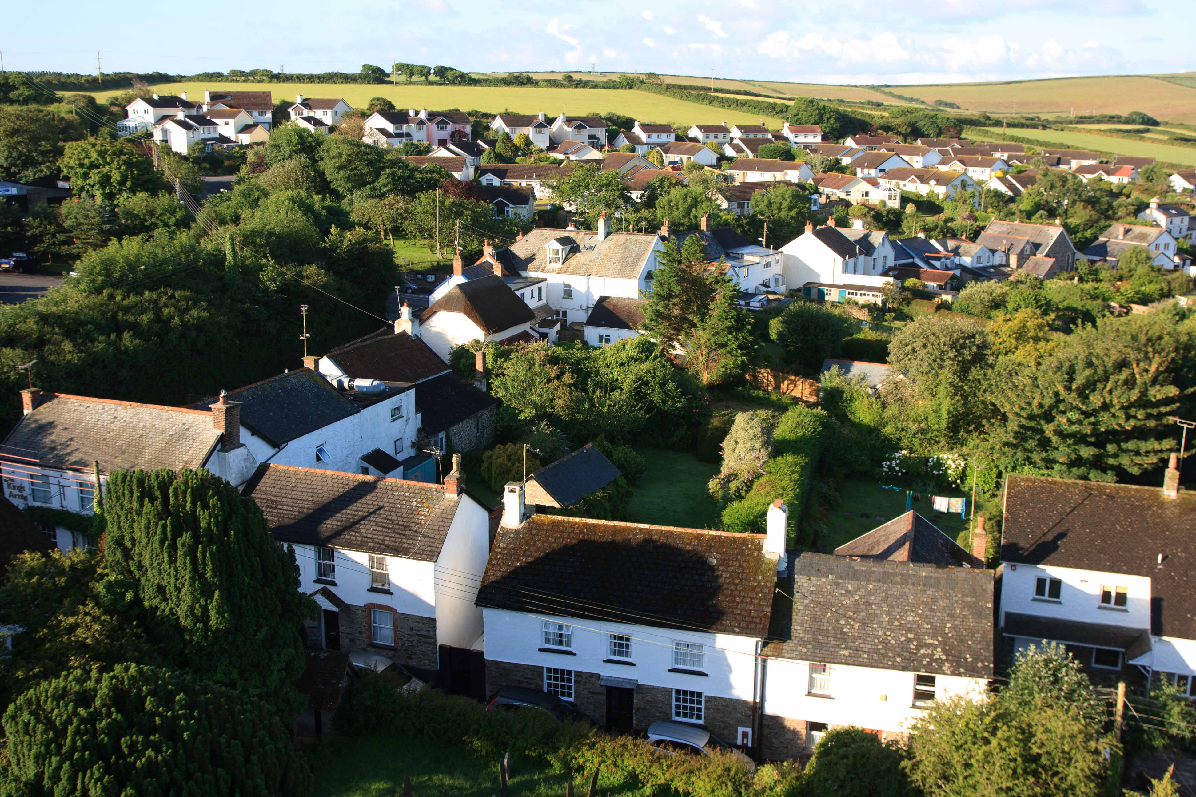 Georgeham from the top of the church tower