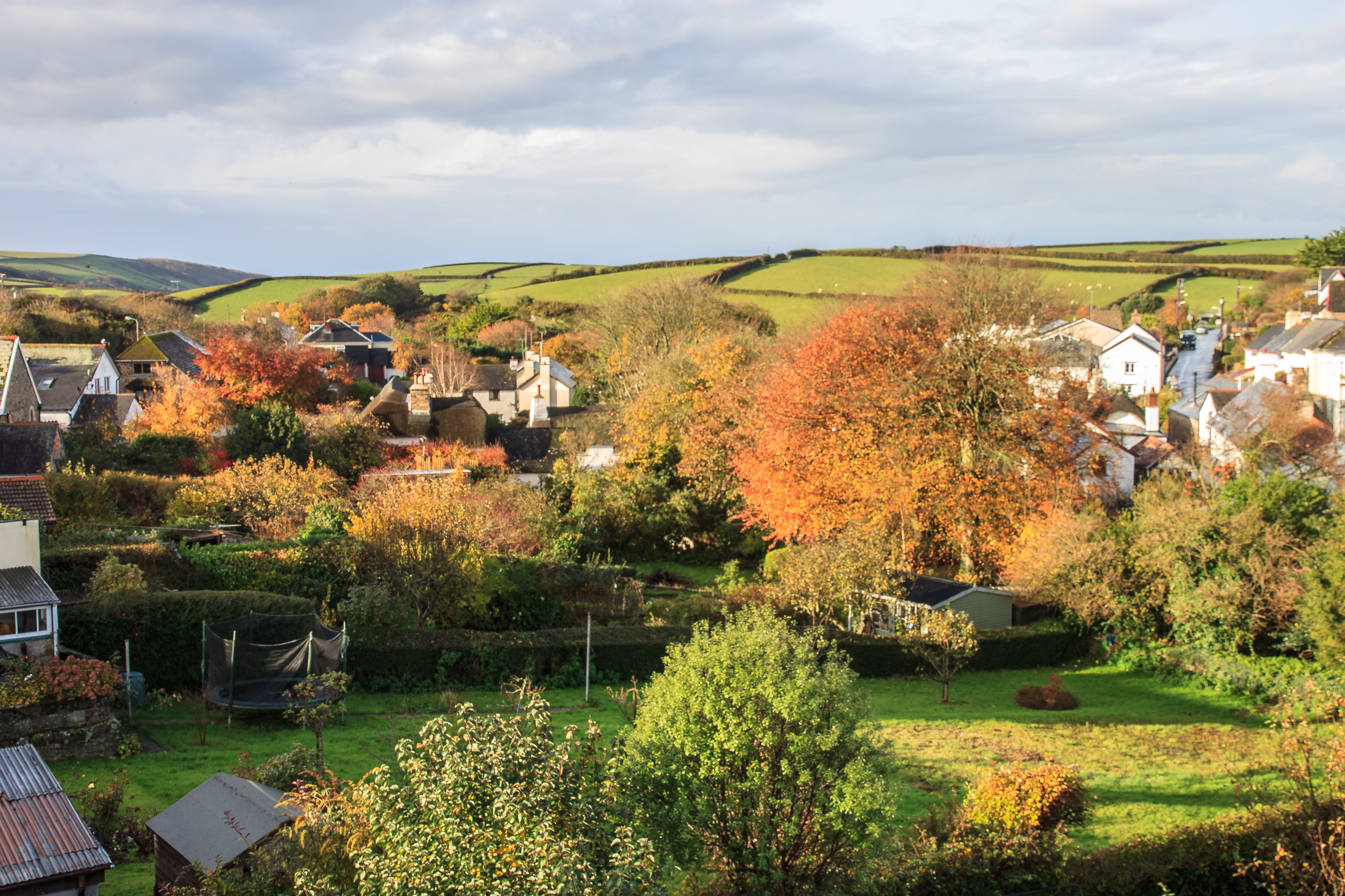 Georgeham in November -View from The Old Bakery