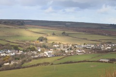 Georgeham from Saunton Down. Feb 2015.