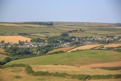 Georgeham from Saunton Down, July 2018
