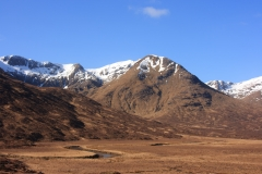 Hills to the south of Loch Cluanie in Glen Shiel