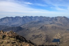 Cuillin Ridge from the summit of Bla Bheinn