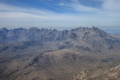 Main Cuillin Ridge from the summit of Bla Bheinn