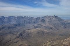 Main Cuillin Ridge from the summit of Bla Bheinn