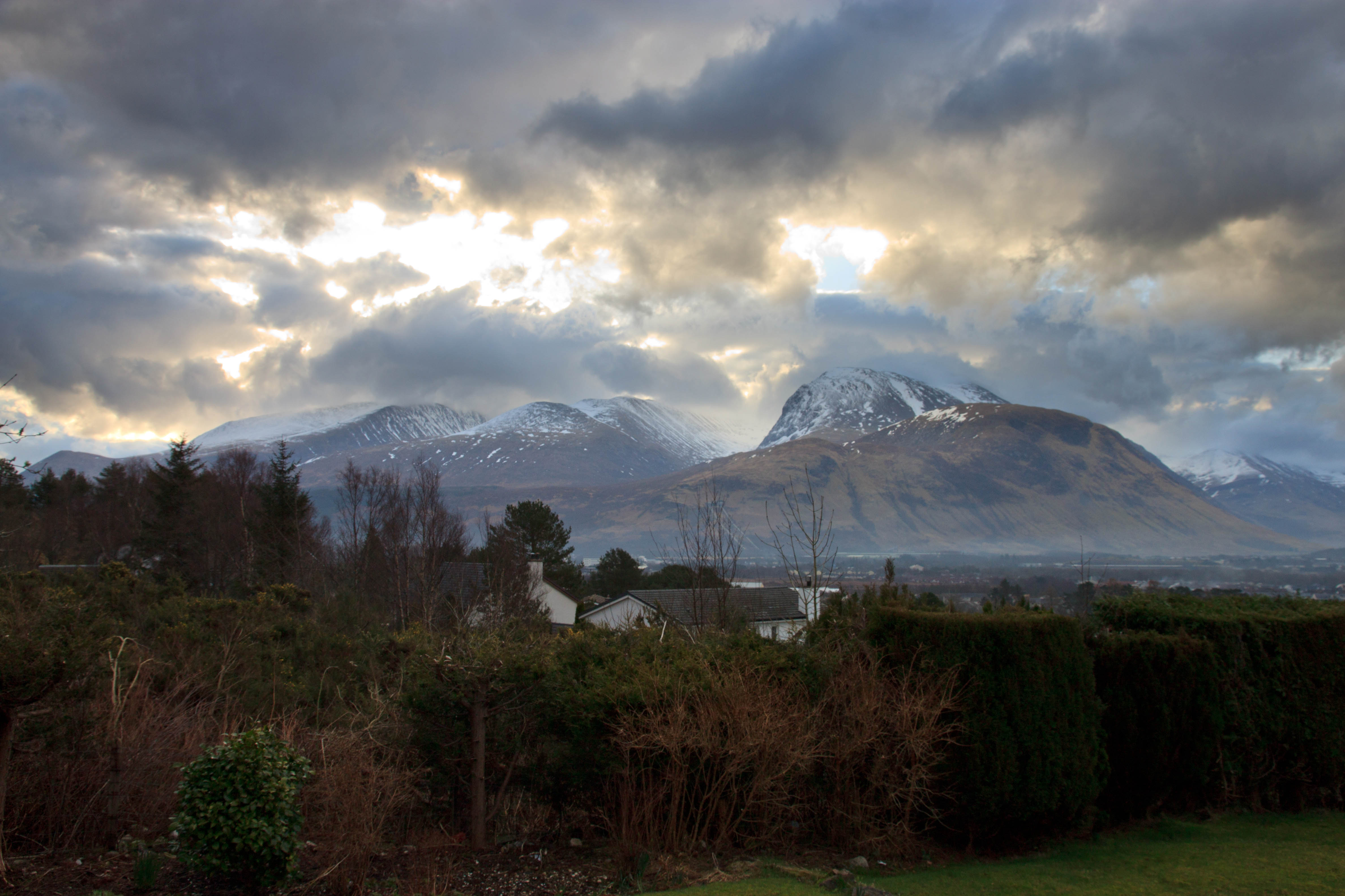 Ben Nevis from Banabie on the A380. March 2015.