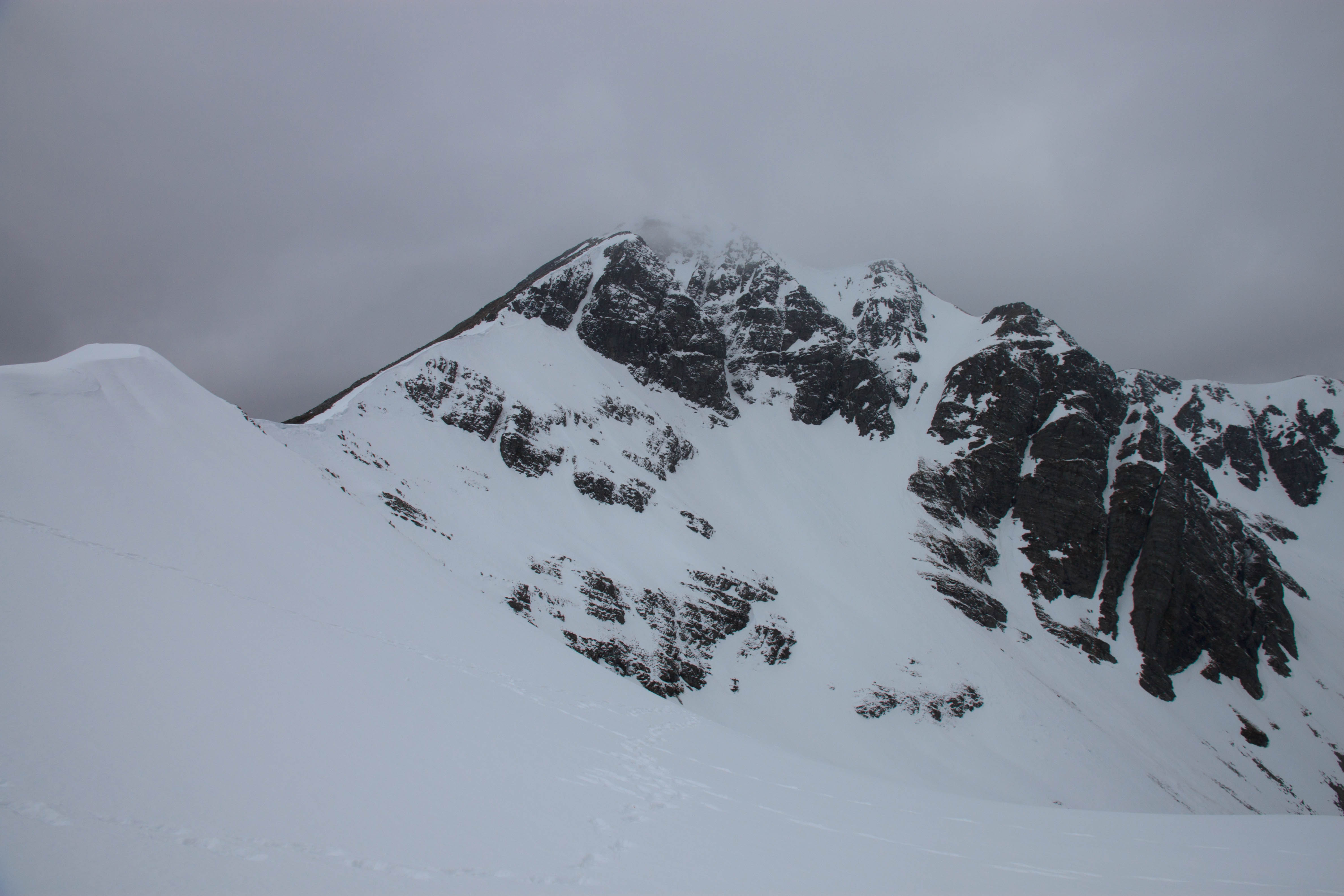 Mullach nan Coirean in the Mamores south of Glen Nevis. March 2015.