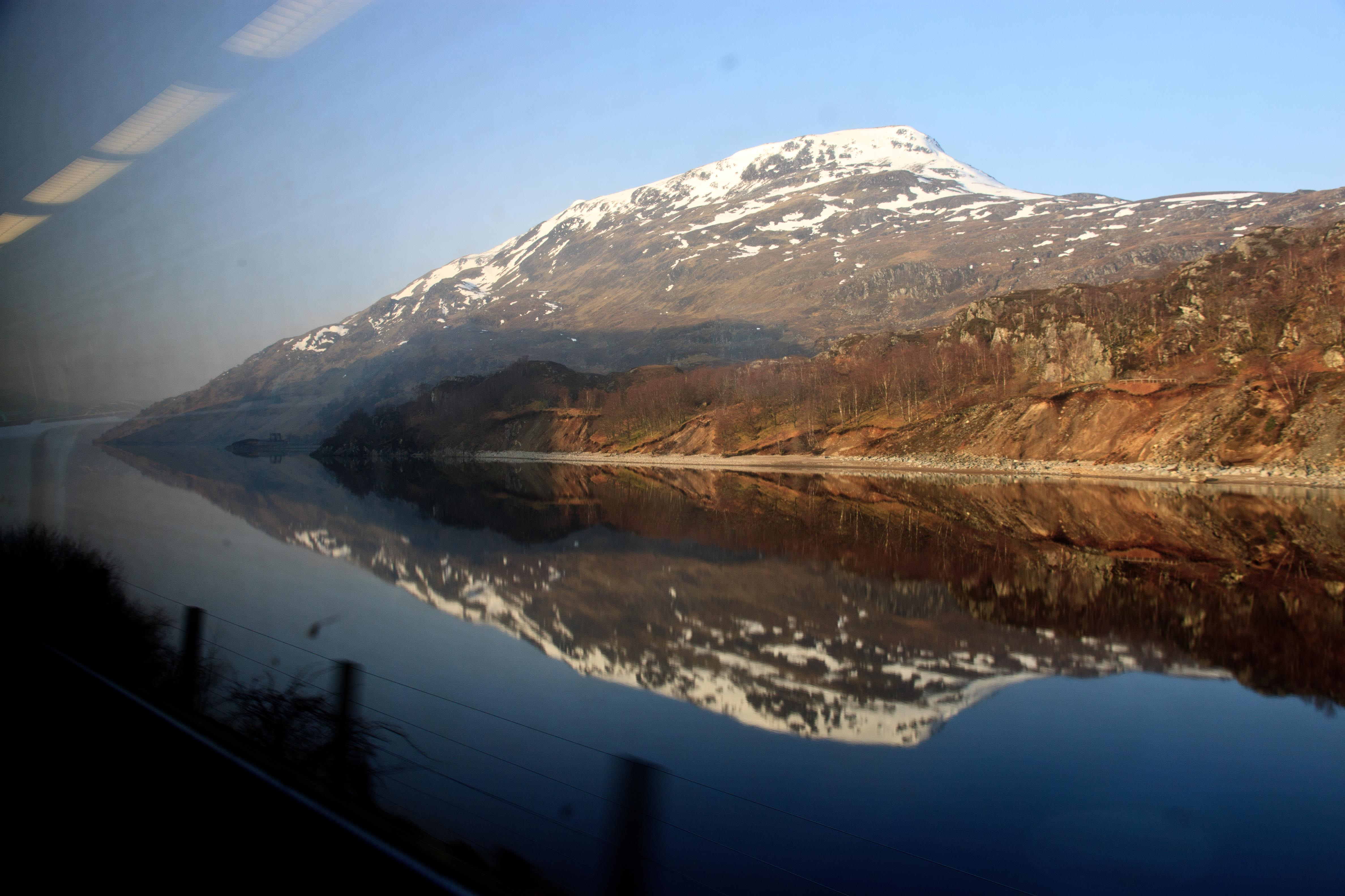 Loch Treig from the train. March 2015.