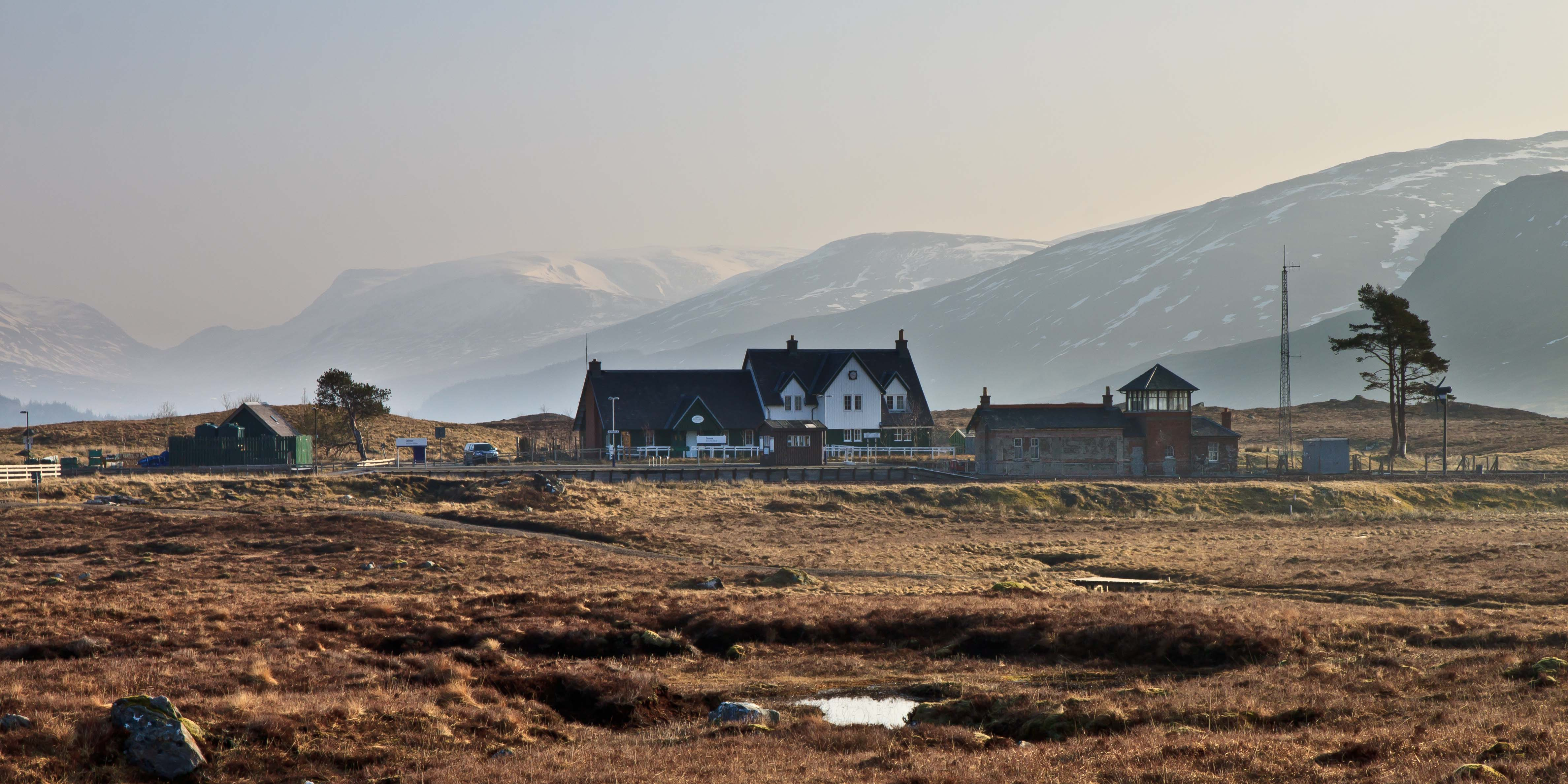 Corrour Station on Rannoch Moor. March 2015.