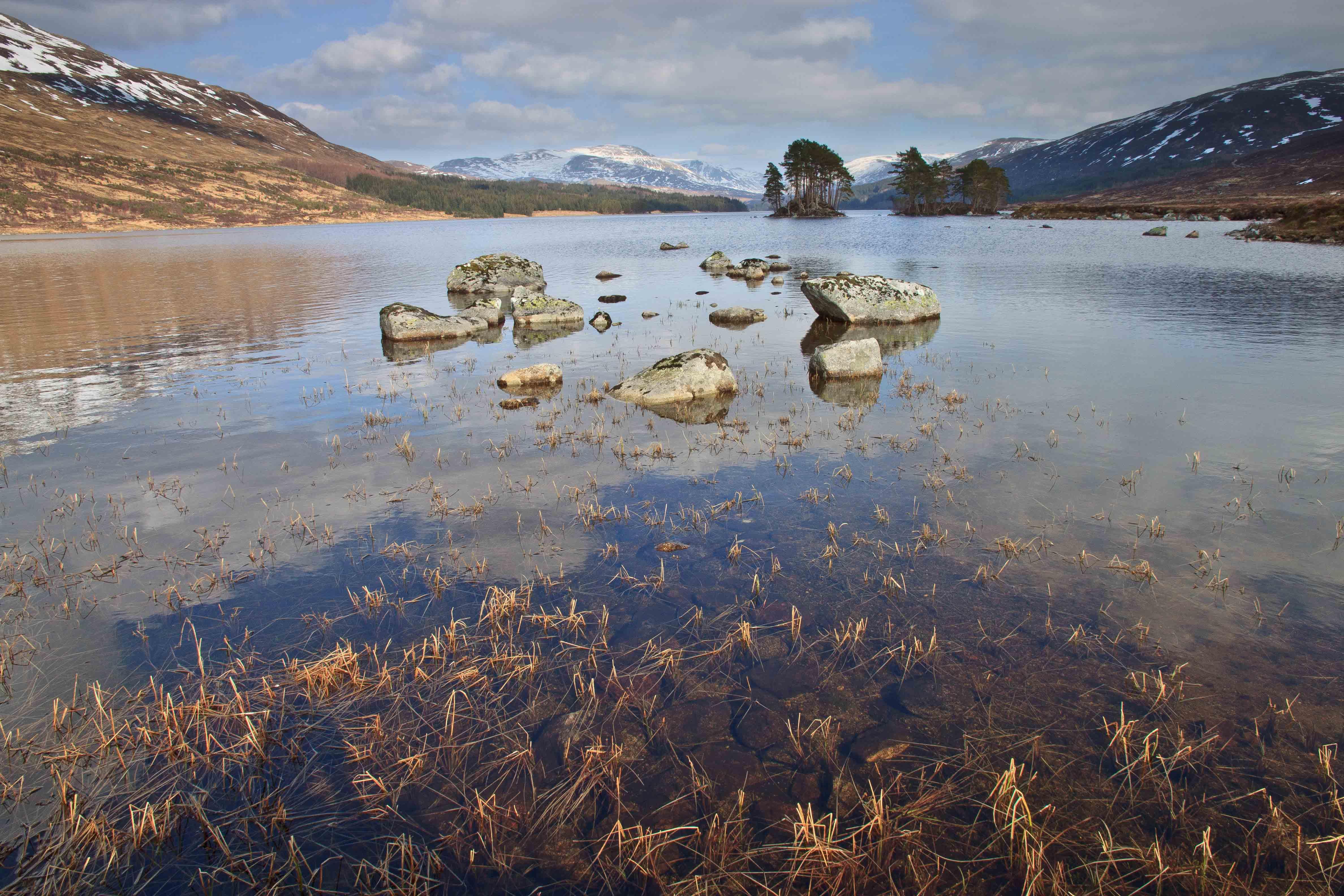 Loch Ossian from near the Youth Hostel looking east.