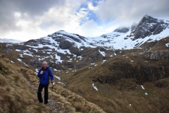 Walk up Stob Ban in the Mamores with Keith Gault. March 2015.