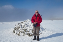 David on the summit of Aonach Mor. Photo by Keith Gault. March 2015.