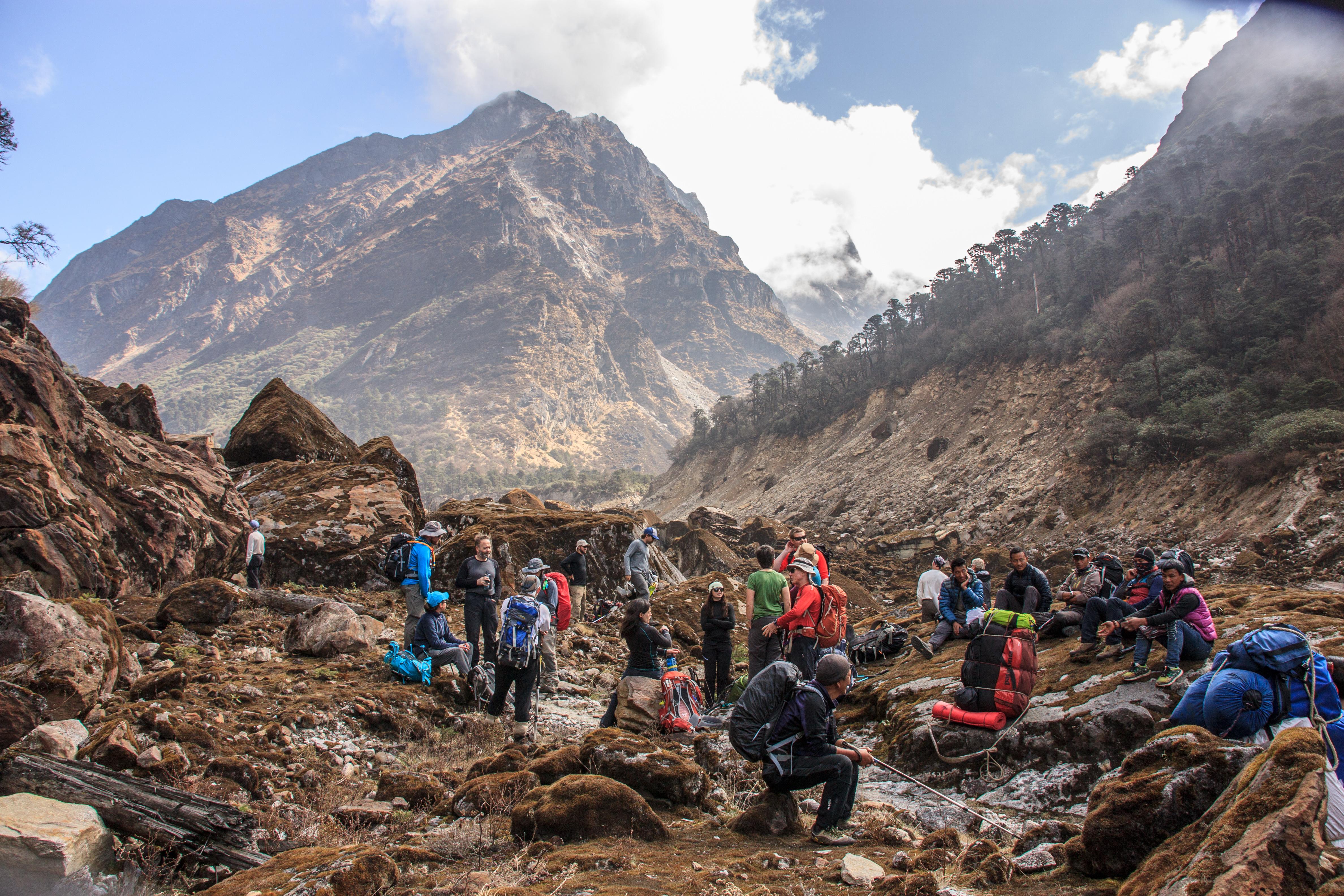 Ascending the Hinku Khola valley
