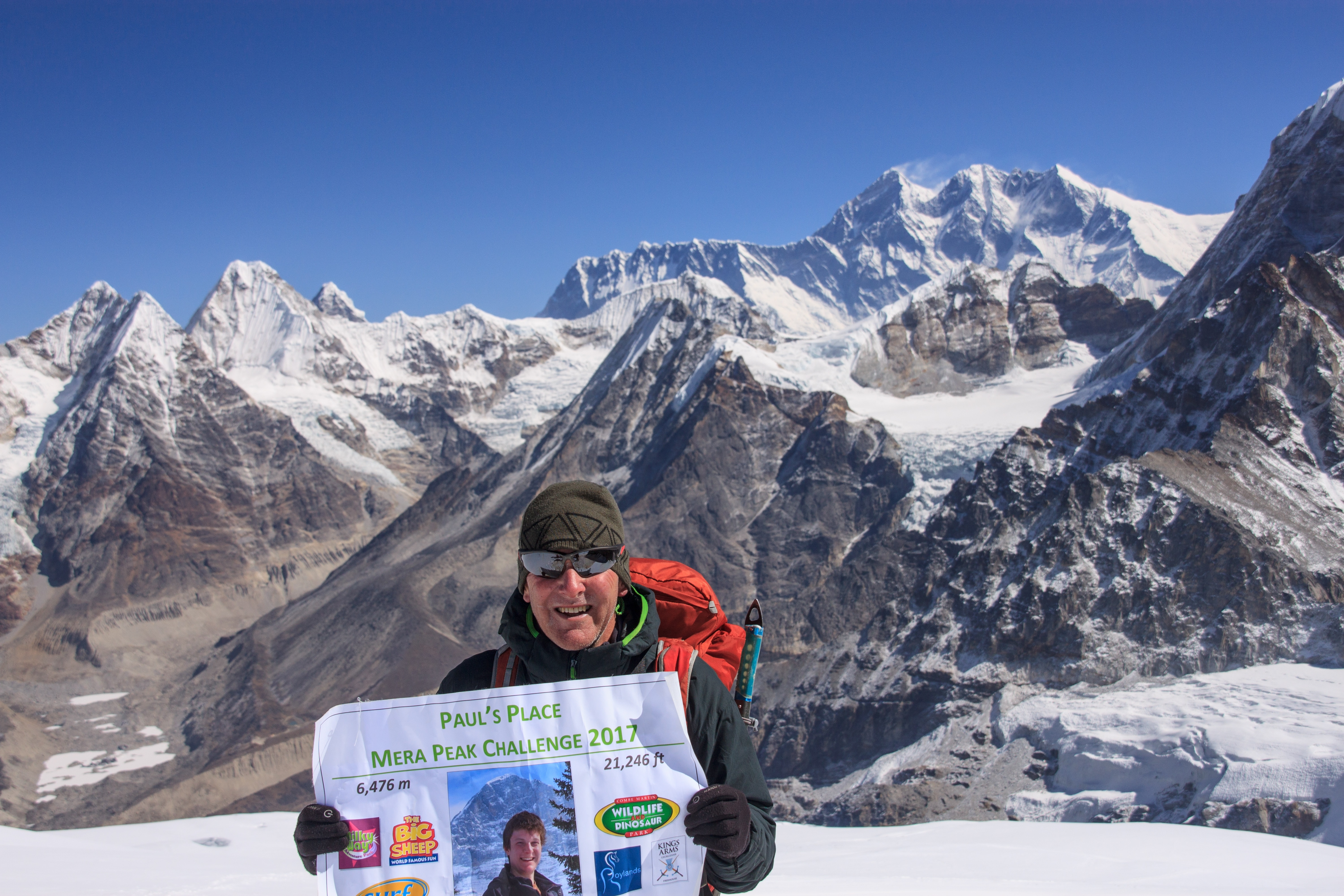 Me with Mt Everest in the background.