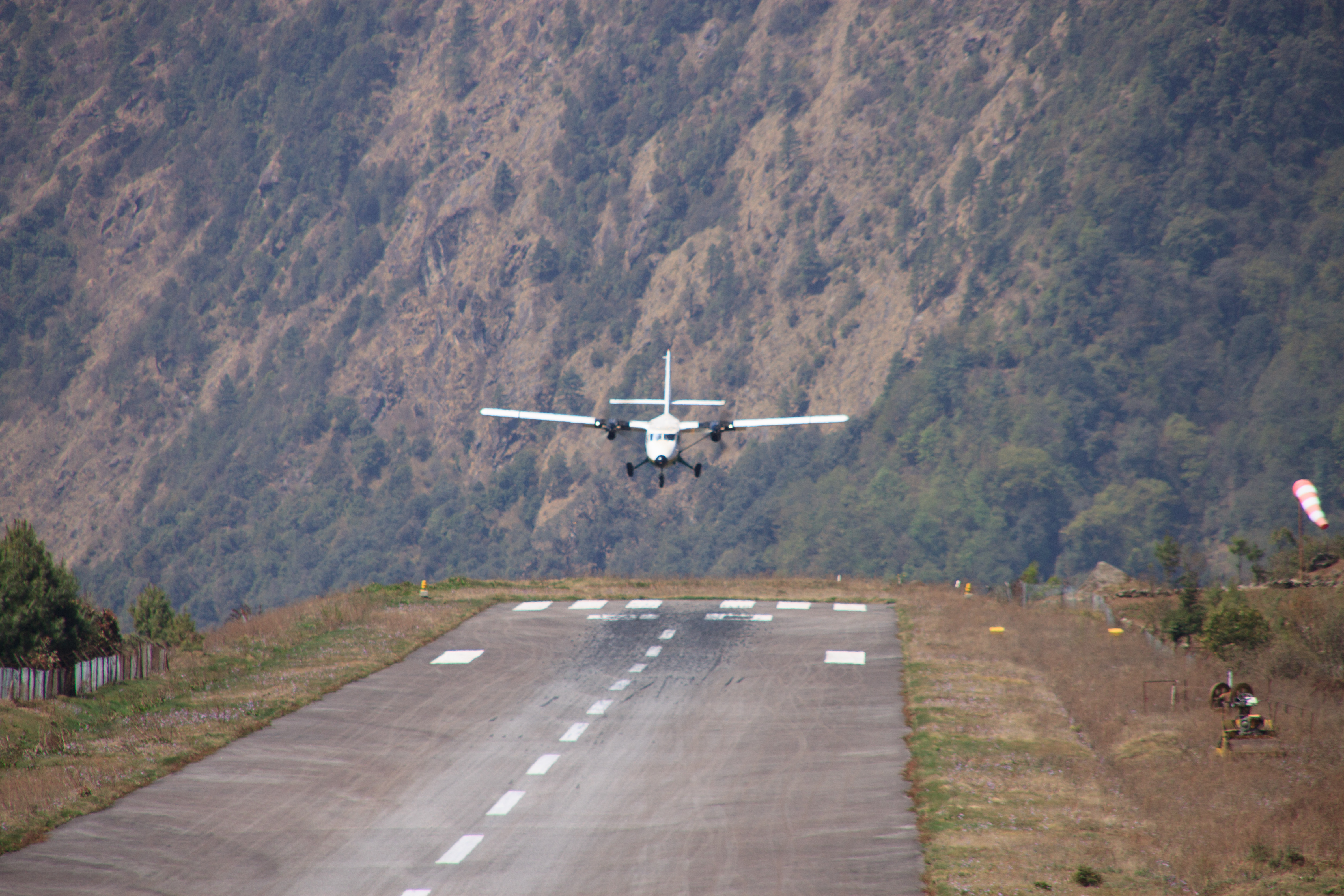 There's only one spot on the runway to land. The fly in beats Alton Towers any day.