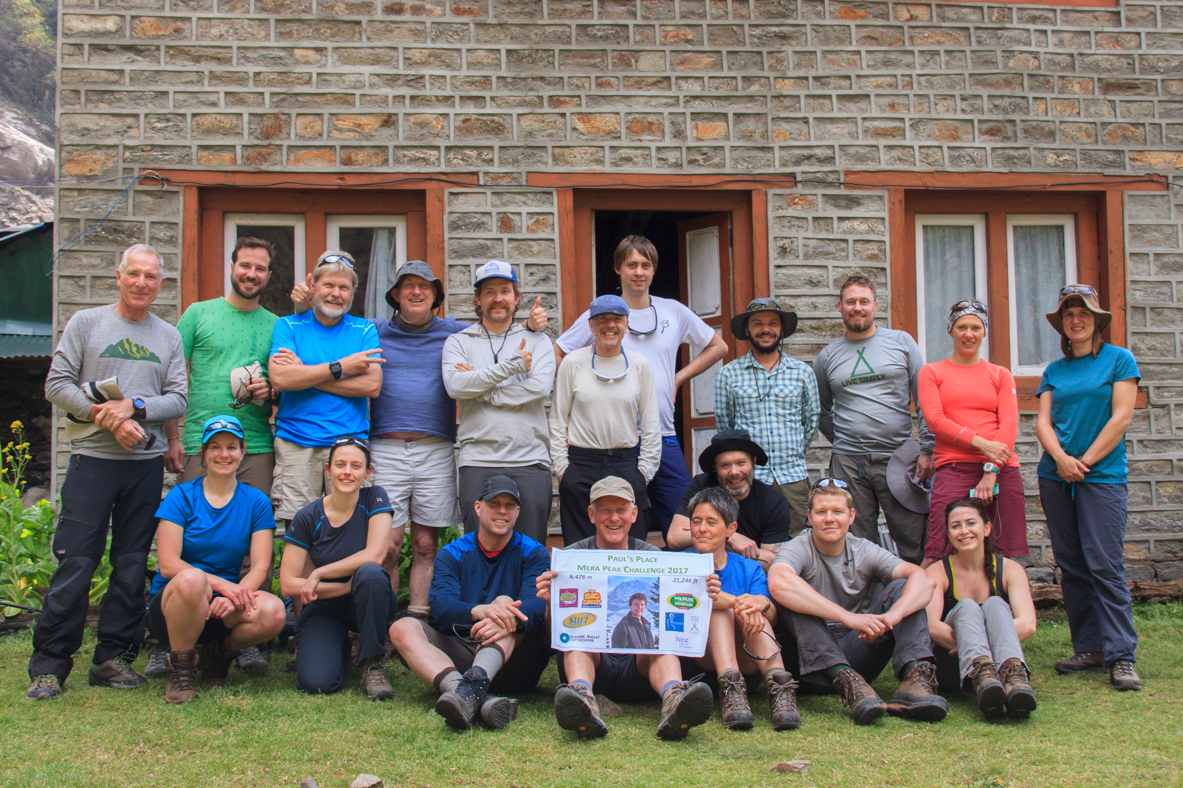 Our group at the start of our expedition