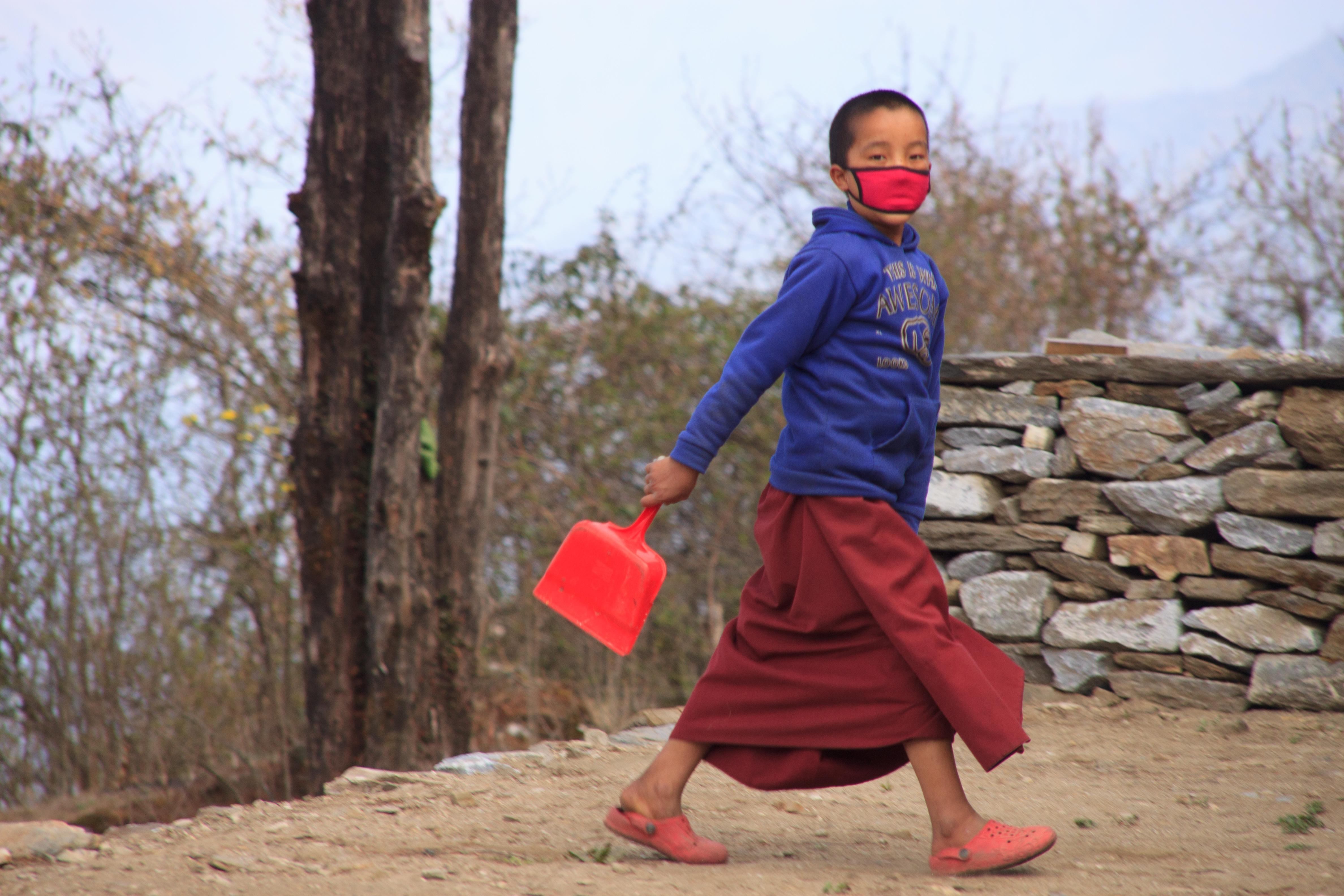 A novice monk.