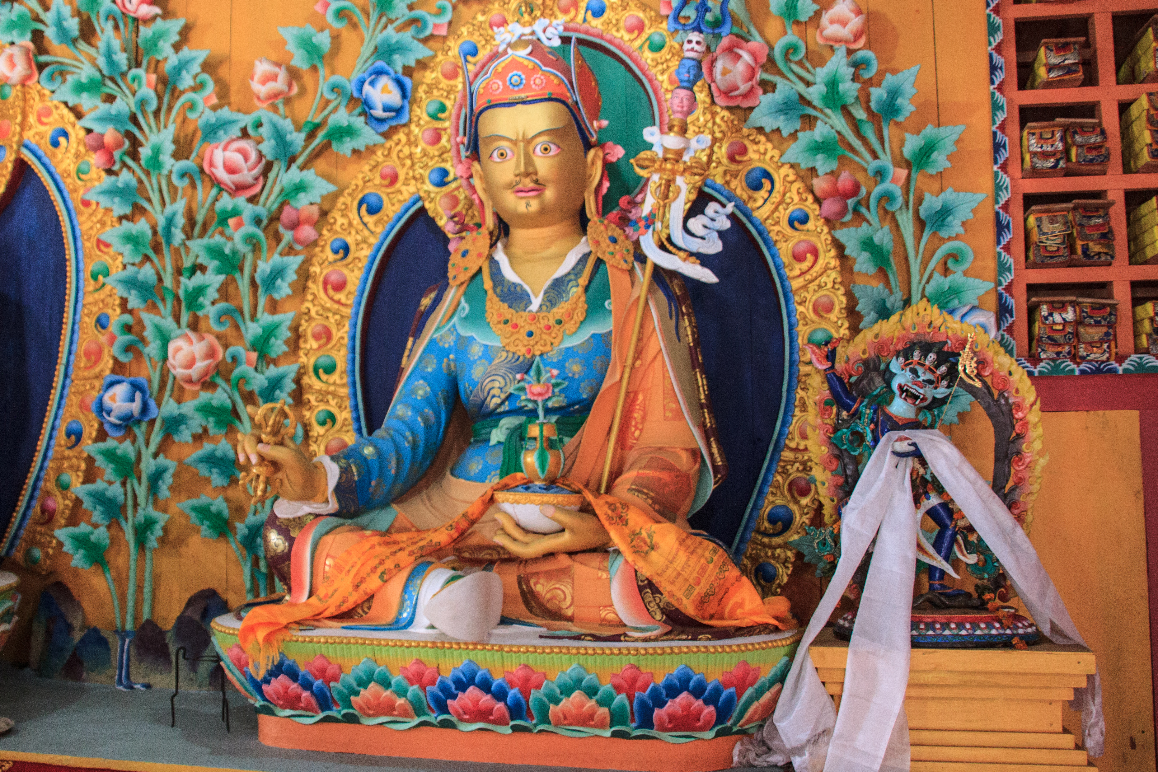 Budhist figure Inside a typical Monastery