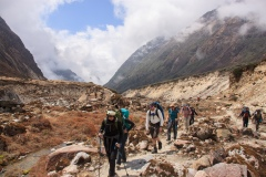 Ascending the Hinku Khola valley
