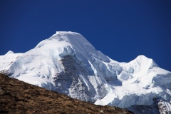 Summit of Mera Peak from Kare
