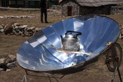 Solar powered kettle Nepali style.