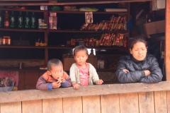 Children in a typical tea shop en-route