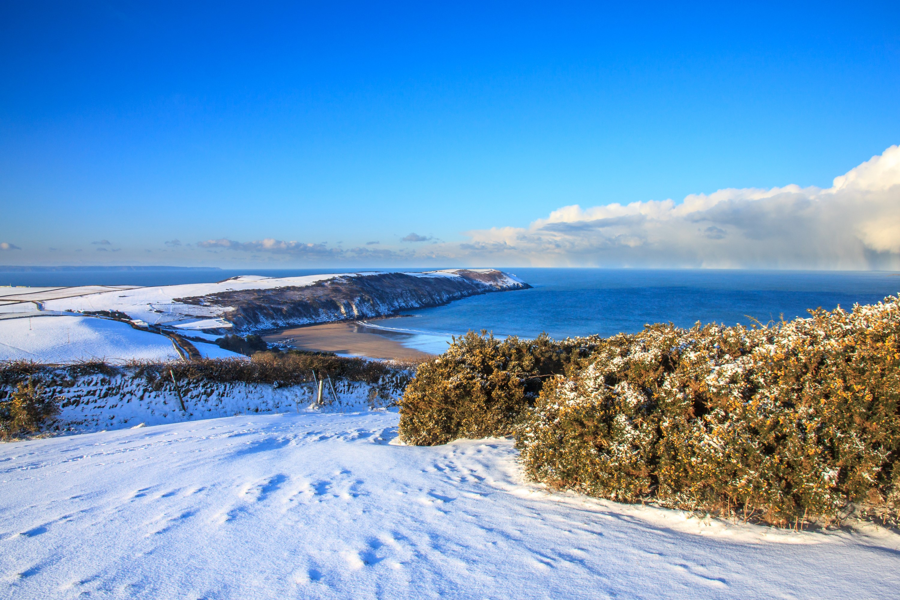 Baggy Point in the Snow