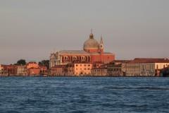 View from Venice across the Canal della Guidecca.