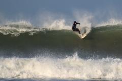 Surfing on Putsborough Beach