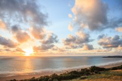 May: Sunset over Woolacombe Bay