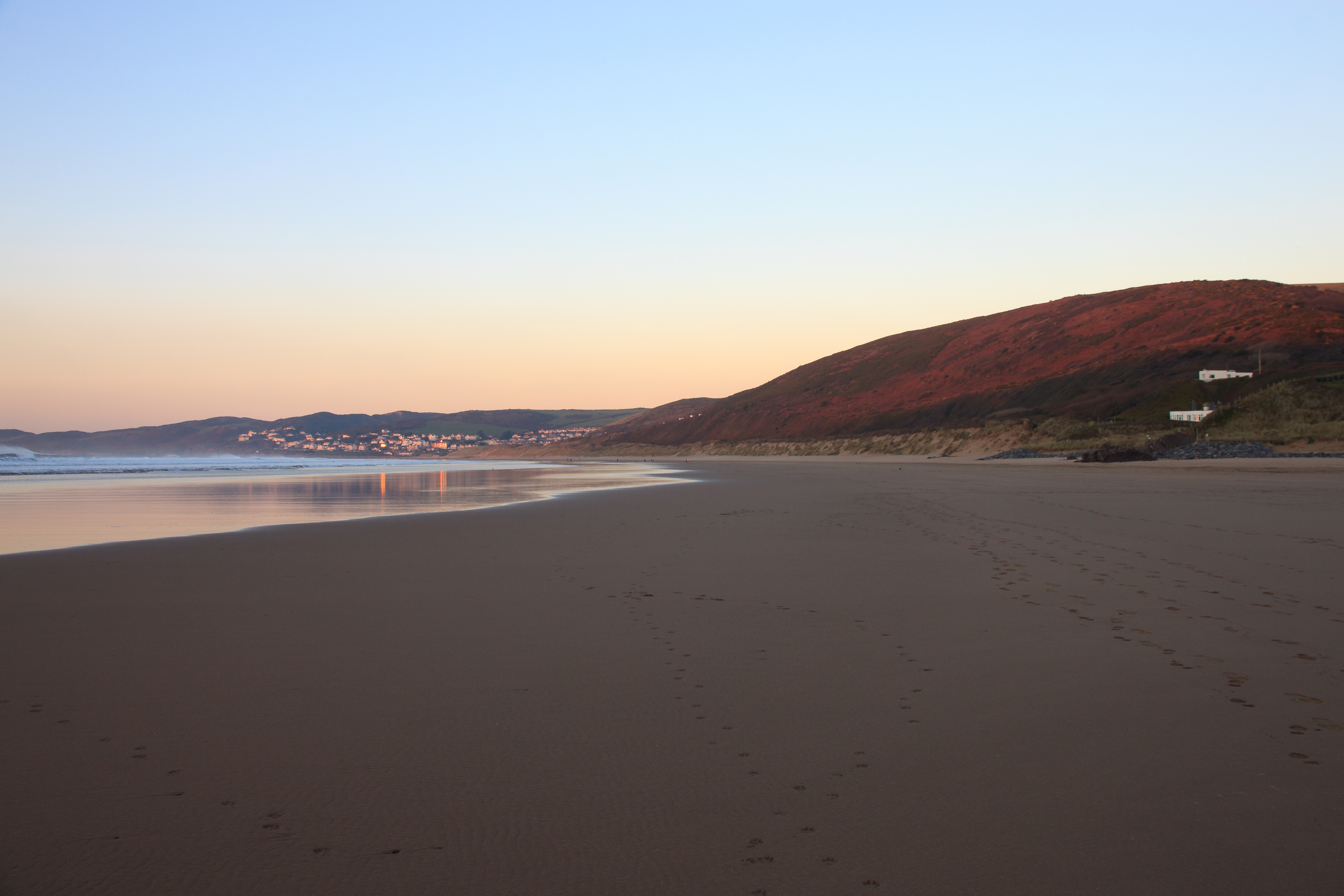 Putsborough Beach and Woolacombe Down on a November Evening