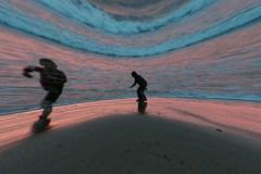 IMG_3114-36-Fisheye-of-children-in-sea-at-Putsborough