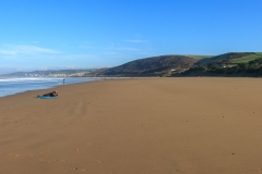 Putsborough Beach on a bright sunny day in November