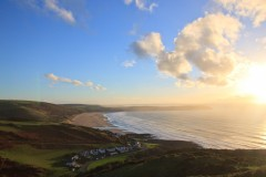 Woolacombe Beach and Baggy Point from Quarry Hill near Mortehoe