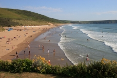 Woolacombe Beach looking towards Putsborough Beach. June 2015.
