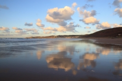 Morte Point, Woolacombe and sky reflections on Putsborough Beach