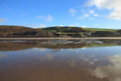 Reflections on Putsborough Beach. January 2015.