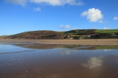 Woolacombe Down from Putsborough Beach. January 2015.