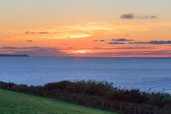 Croyde Bay with Lundy Island from Saunton Down at Sunset