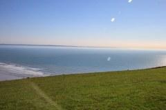 Saunton Sands from Saunton Down. Hartland Point in the far distance
