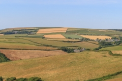 Georgeham and Woolacombe Down from Saunton Down, July 2018