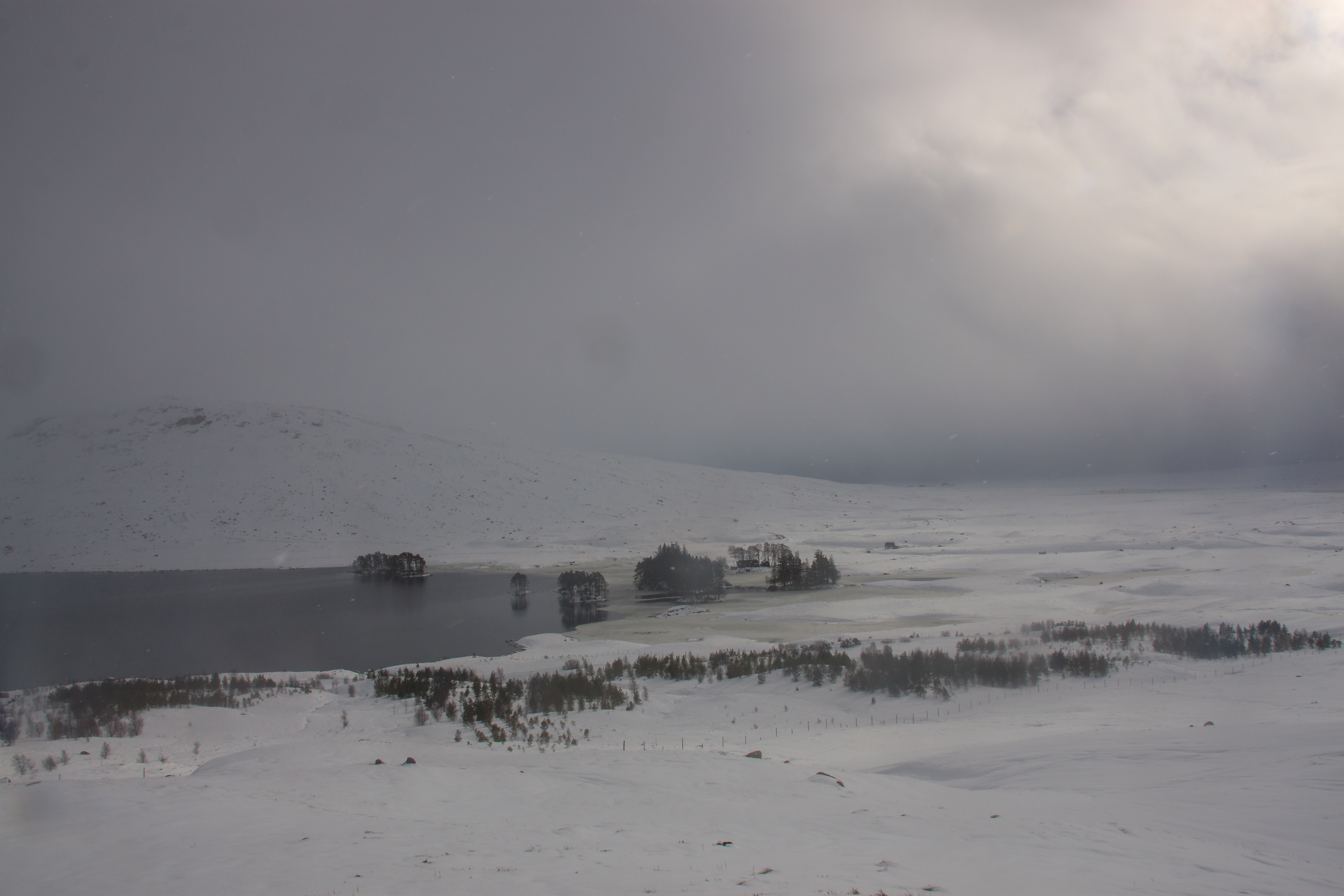 Loch Ossian and Youth Hostel