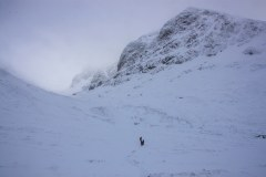 Walk up Allt a Mhuilinn below north face of Ben Nevis