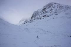 Walk up Allt a Mhuilinn below north face of Ben Nevis