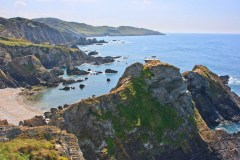 View west from Bull Point towards Morte Point (between Ilfracombe and Woolacombe)