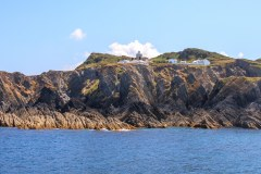 Bull Point and Lighthouse from the sea